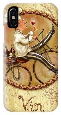 Chefs On Bikes-vin IPhone Case