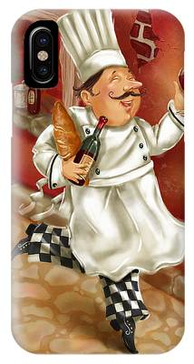 Chefs With Wine I IPhone Case