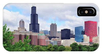Chicago Skyline Over Park IPhone Case