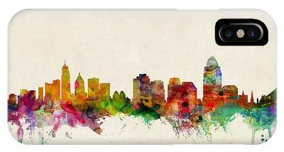 Cincinnati Ohio Skyline IPhone Case