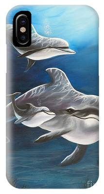 Clearwater Beach Dolphins IPhone Case
