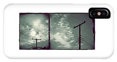 IPhone Case featuring the photograph Clouds And Power Lines by Patricia Strand
