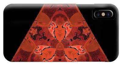 Copper Triangle Abstract IPhone Case