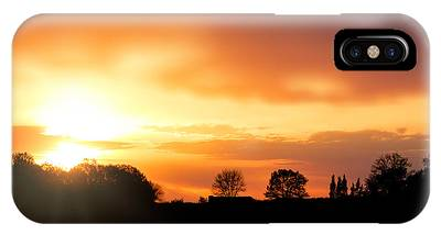 Country Sunset Silhouette IPhone Case