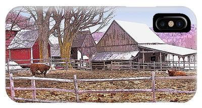 Cows At Jenne Farm IPhone Case