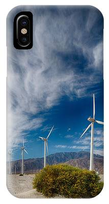 Creosote And Wind Turbines IPhone Case