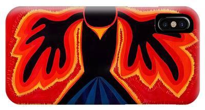 Crow Rising Original Painting IPhone Case