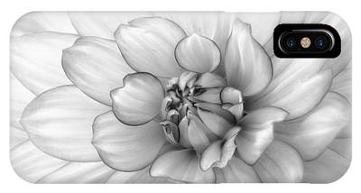 Dahlia Flower Black And White IPhone Case