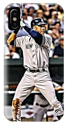 IPhone Case featuring the painting Derek Jeter Painting by Florian Rodarte