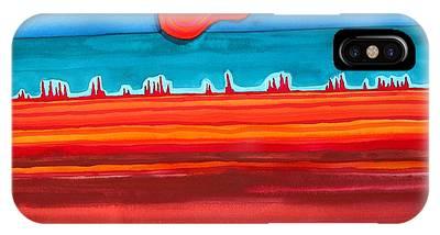Desert Cities Original Painting Sold IPhone Case