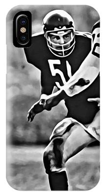 IPhone Case featuring the painting Dick Butkus by Florian Rodarte