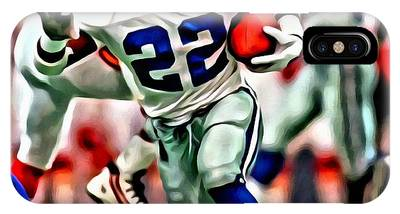 IPhone Case featuring the painting Emmitt Smith by Florian Rodarte