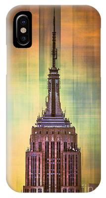 Empire State Building Digital Art iPhone Cases