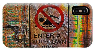 Enter At Your Own Risk - Mike Hope IPhone Case