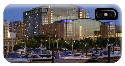 Evening At Washington National Harbor IPhone Case