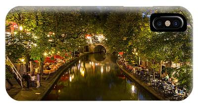 Evening Canal Dinner IPhone Case