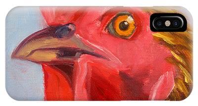 Chicken Portrait Phone Cases