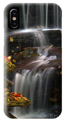Falls And Fall Leaves IPhone Case