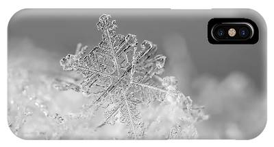 IPhone Case featuring the photograph First Snowflake by Rona Black