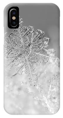 First Snowflake IPhone Case by Rona Black