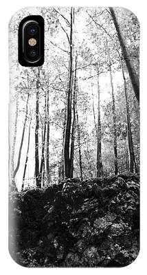 Forest Black And White 7 Phone Case by Falko Follert