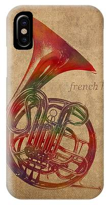 French Mixed Media iPhone Cases