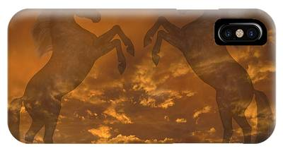 Ghost Horses At Sunset IPhone Case