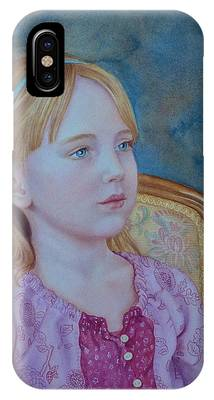 Girl With Blue Headband IPhone Case