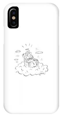 God Sits On A Throne Wearing A Shirt Reading IPhone Case