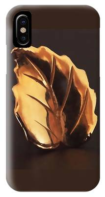 IPhone Case featuring the photograph Gold Leaf by Rona Black