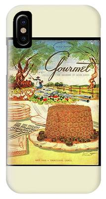 Gourmet Cover Featuring A Buffet Farm Scene IPhone Case