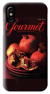 Gourmet Cover Featuring A Plate Of Pomegranates IPhone Case