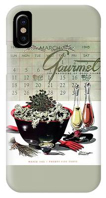 Gourmet Cover Illustration Of A Bowl Of Salad IPhone Case