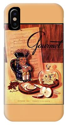 Gourmet Cover Illustration Of A Tray Of Cheese IPhone Case