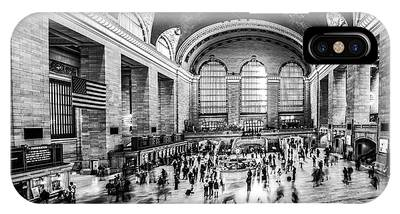 Grand Central Station -pano Bw IPhone Case