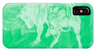 Green Bull Negative IPhone Case