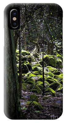 IPhone Case featuring the photograph Green Moss On Rocks by Richard J Thompson
