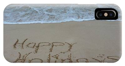 Happy Holidays Beach Messages IPhone Case