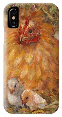 Hen And Chicks IPhone Case