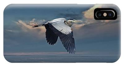 Heron Night Flight  IPhone Case