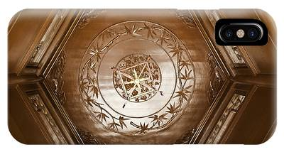 IPhone Case featuring the photograph Hexagon Ceiling by Richard J Thompson