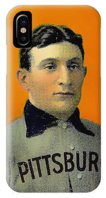 Honus Wagner Baseball Card 0838 IPhone Case