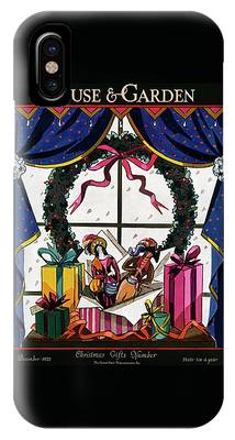 House & Garden Cover Illustration Of Christmas IPhone Case