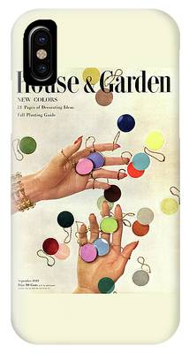 House & Garden Cover Of Woman's Hands With An IPhone Case