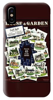 House And Garden Cover Featuring A Collage IPhone Case
