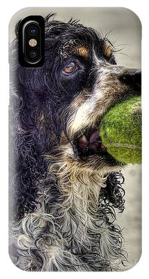 Dog With Tennis Ball Photographs iPhone Cases
