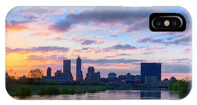 Indianapolis Indiana Sunrise Panoramic Hdr IPhone Case