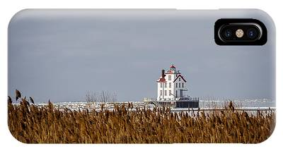 jewel of the Port Lorain Lighthouse IPhone Case