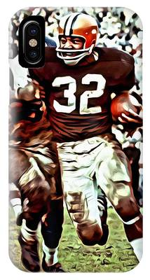 IPhone Case featuring the painting Jim Brown by Florian Rodarte