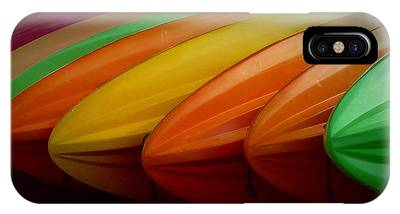 IPhone Case featuring the photograph Kayaks by Patricia Strand